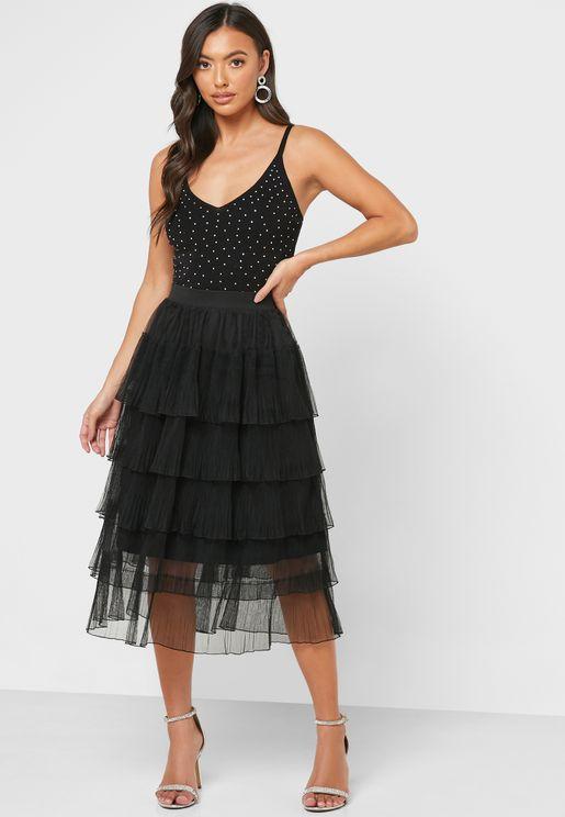 Mesh Layered Skirt