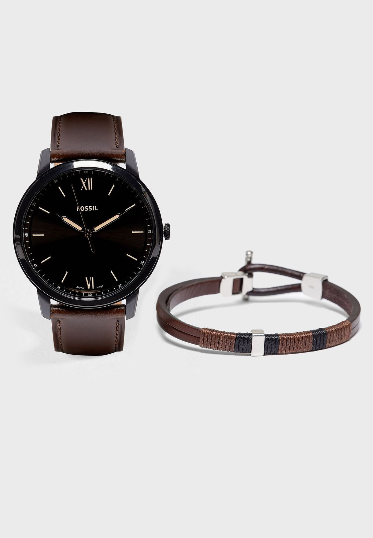 Buy Fossil Brown Fs5557set Analog Watch Bracelet Gift Set For Men In Muscat Other Cities Fs5557set