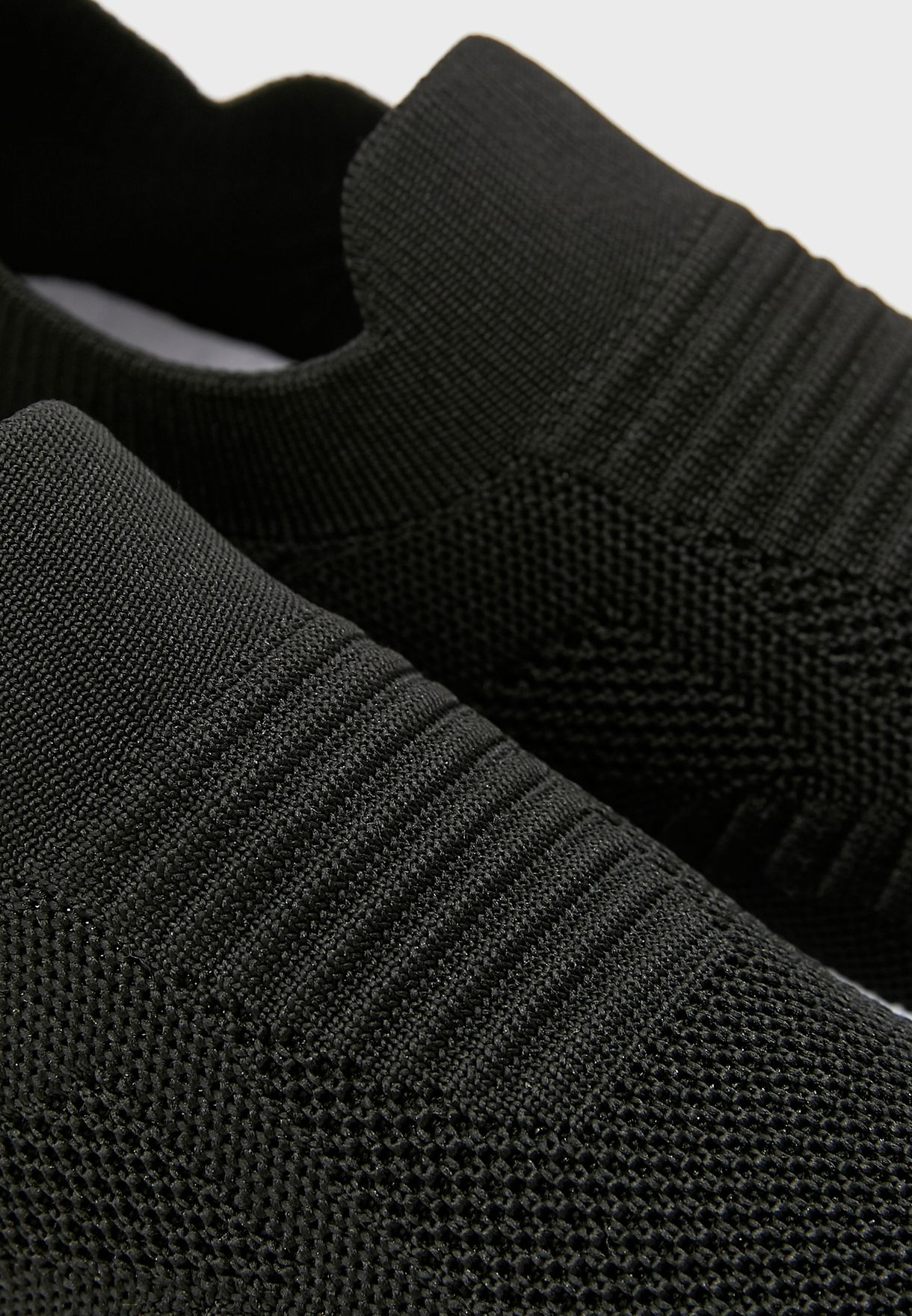Casual Knit Slip On Sneakers