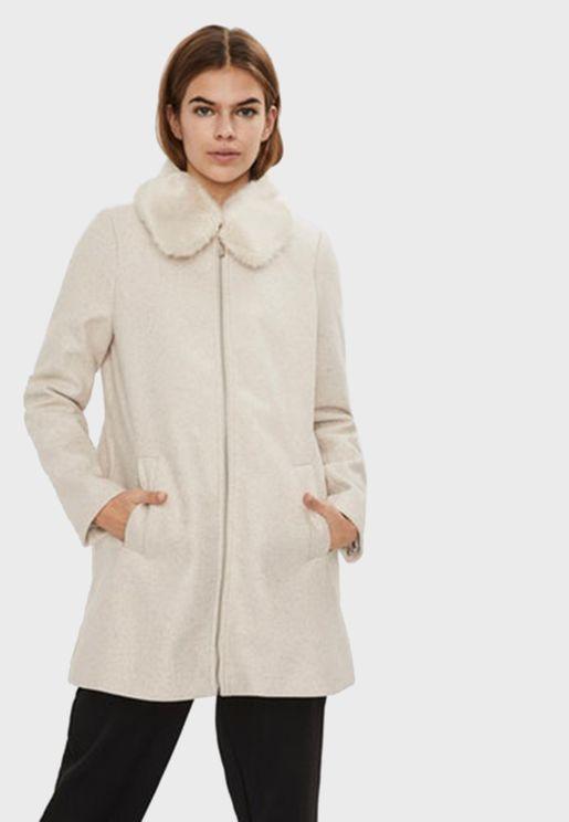 Longline Zip Through Coat