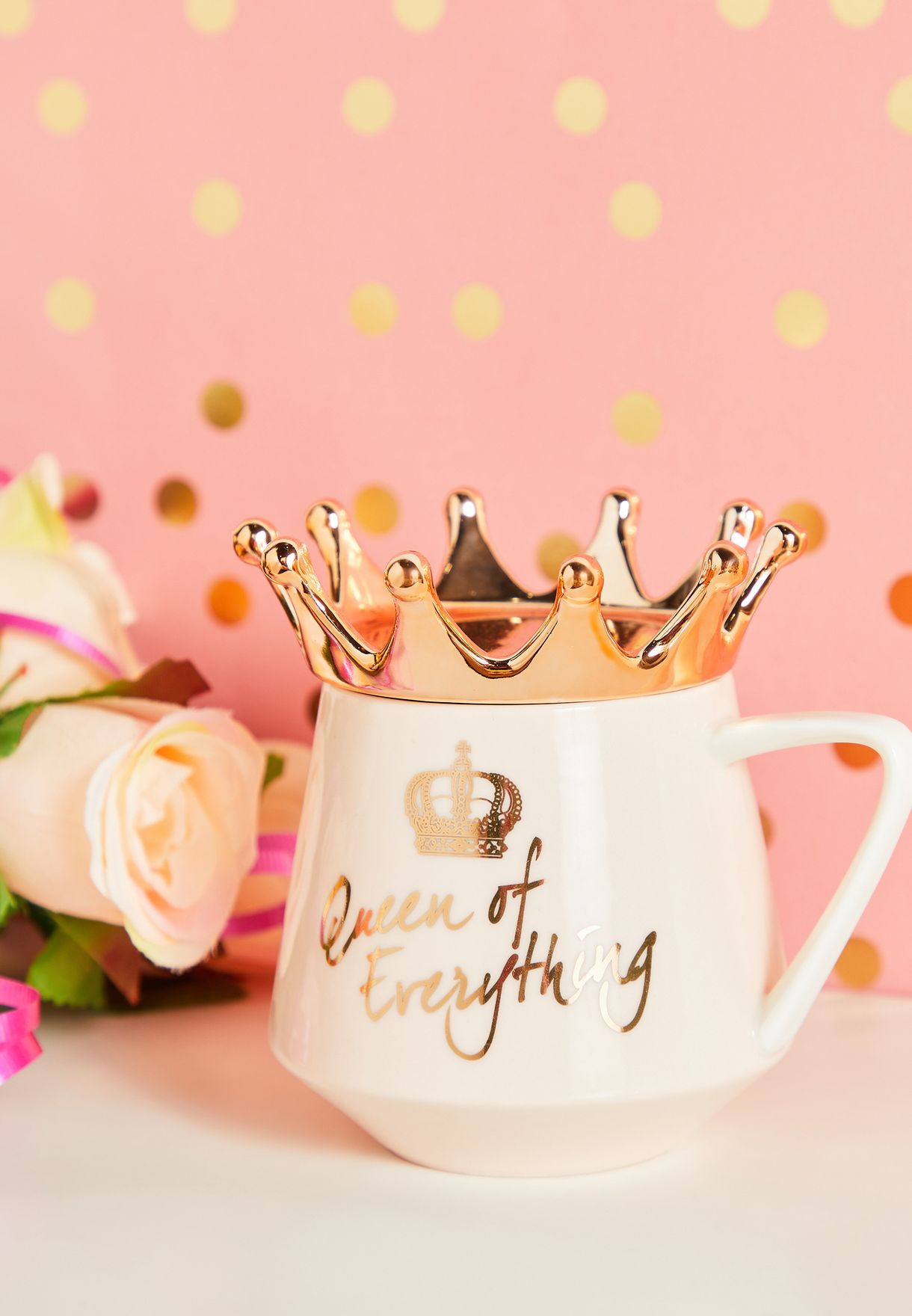 Queen of Everything Crown Lid Mug