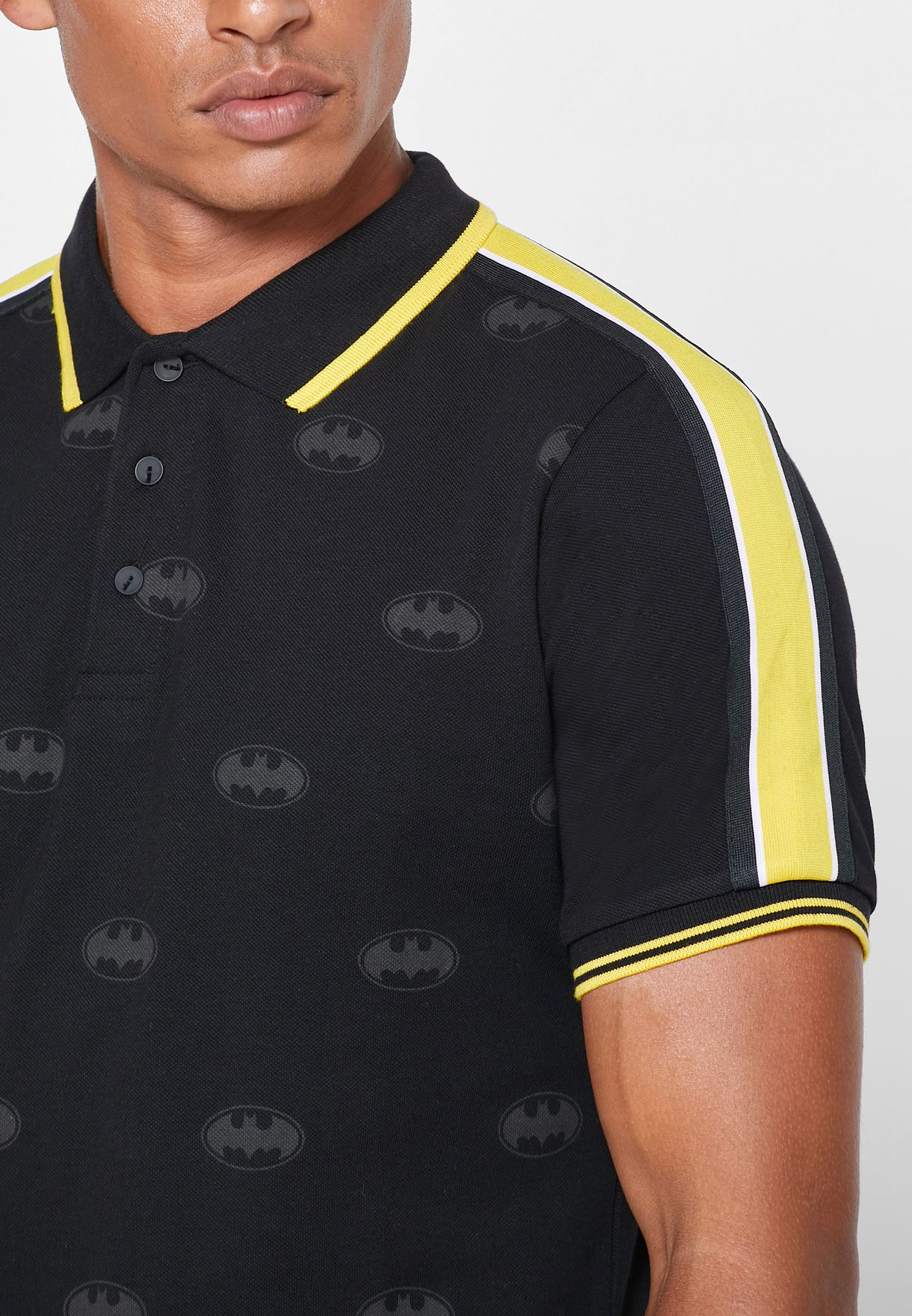 Batman Logo Print Polo
