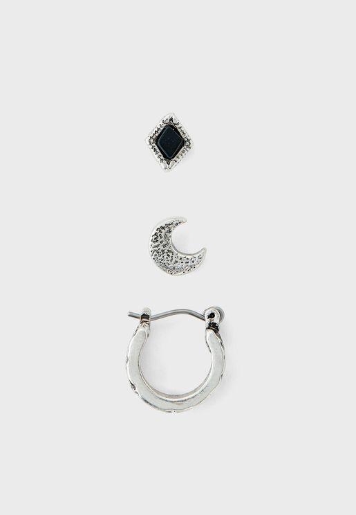 Multipack Moon Earring