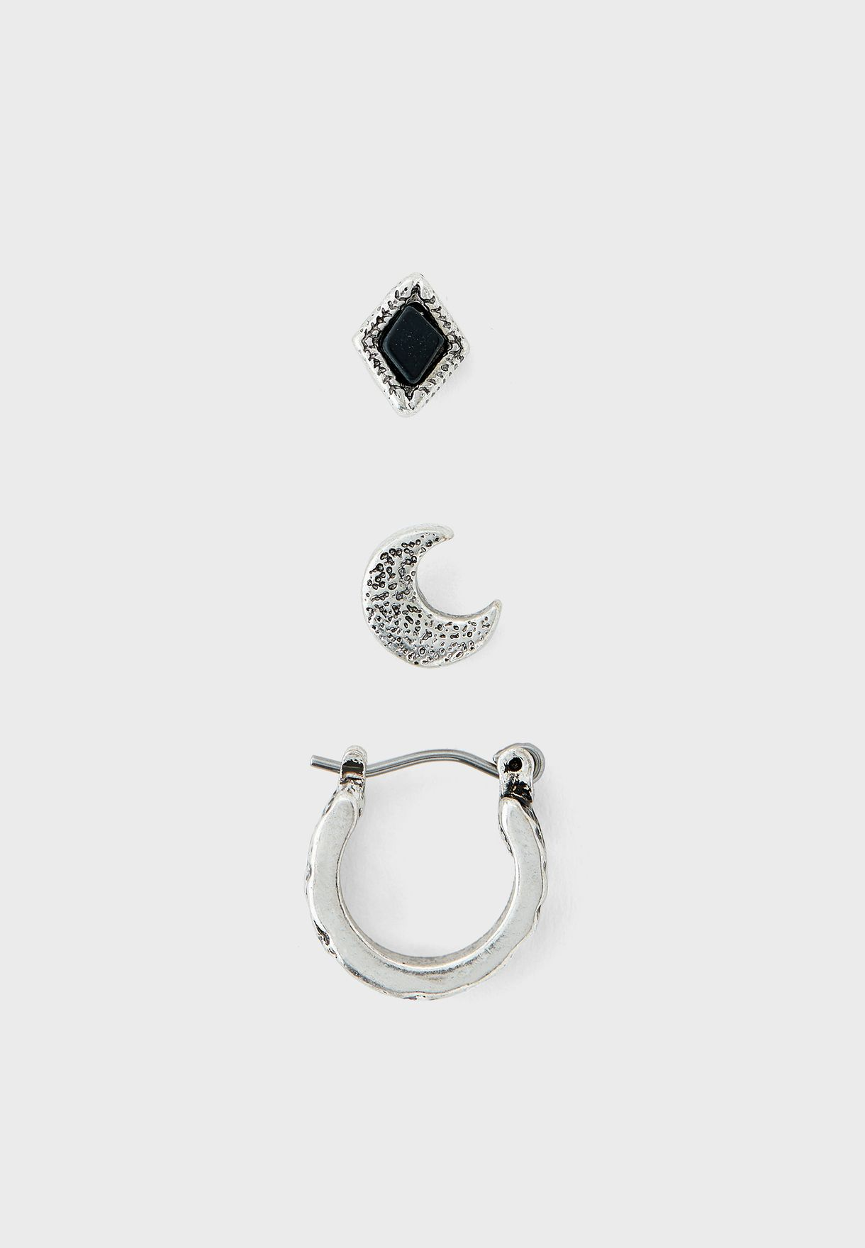 Multipack Moon Earring