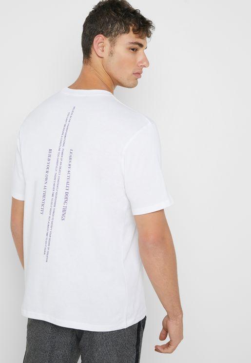 Boya Back Print Crew Neck T-Shirt