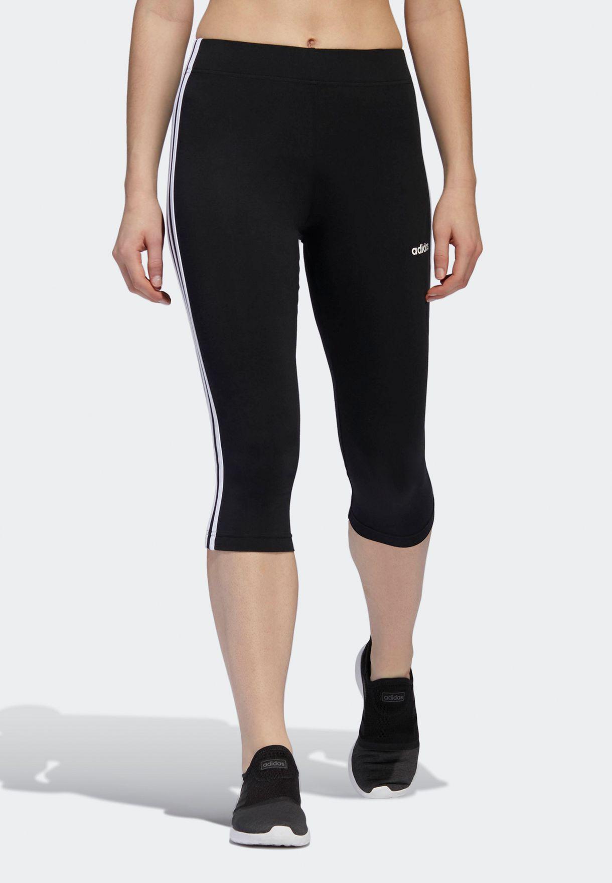 Essential 3 Stripe 3/4 Leggings