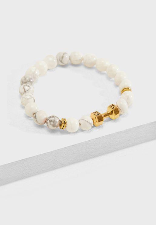 Dumbbell Bead Bracelet