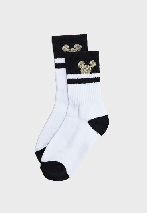 Striped Detail Socks