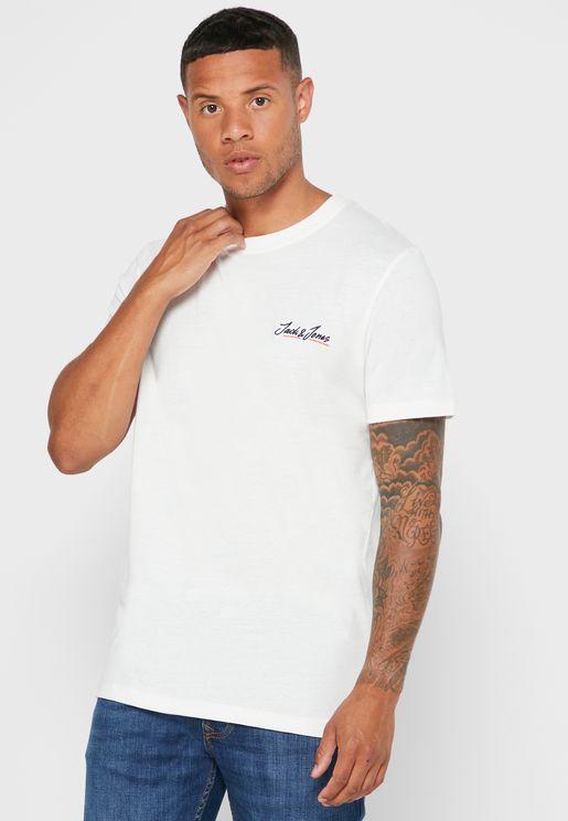 Logo Regular Fit Crew Neck T-Shirt