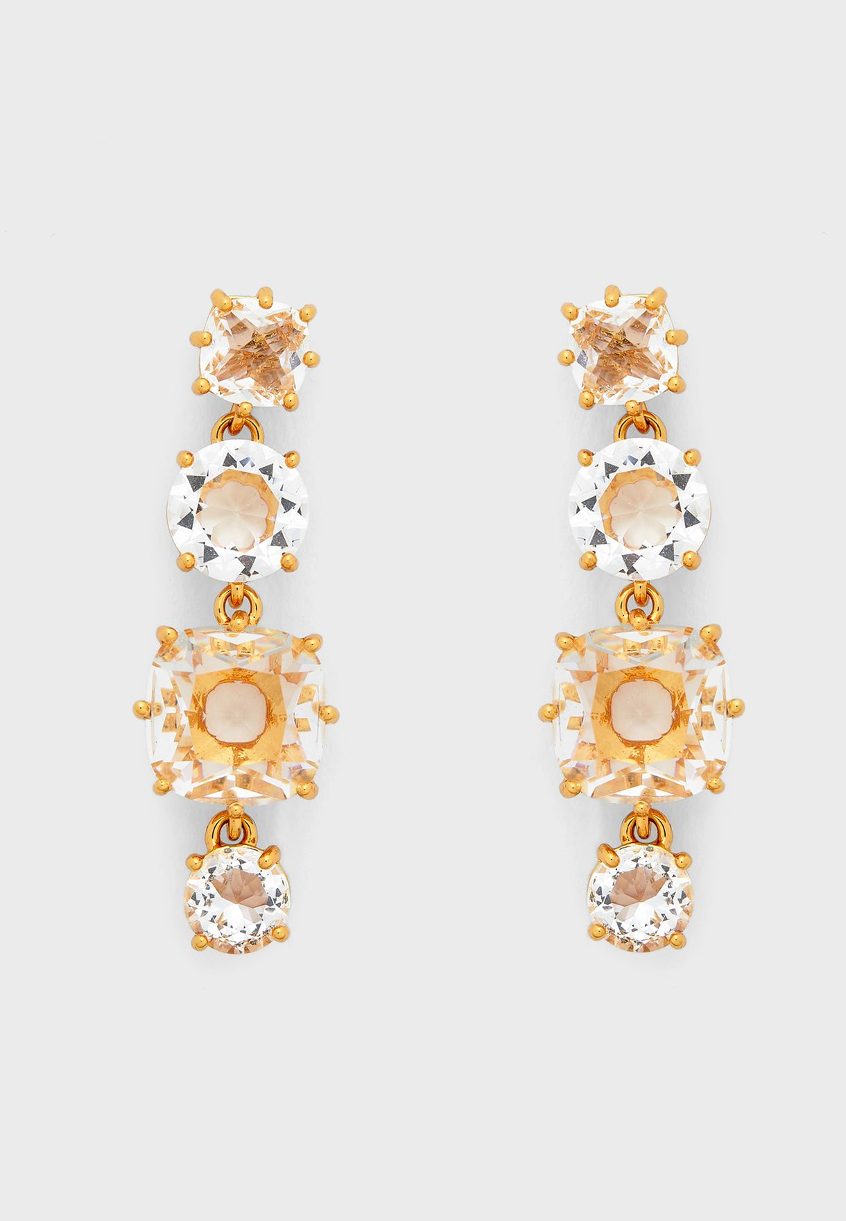 4 Crystal Stones Earrings