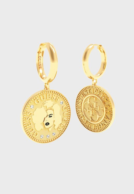 Guess Coin Earrings