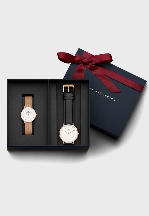 Multipack Melrose + Sheffiel Analog Watch Gift Set