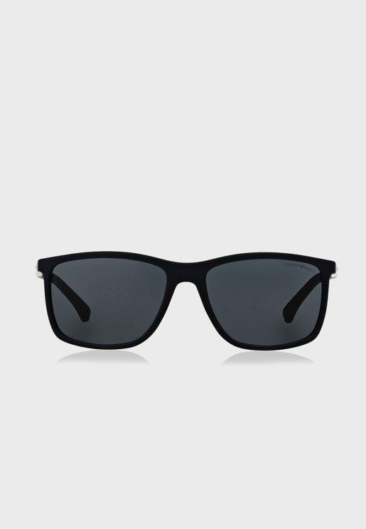 0EA4058 Wayfarer Sunglasses
