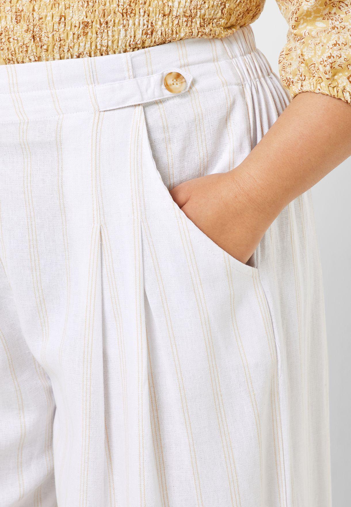 Button Detail Culotte