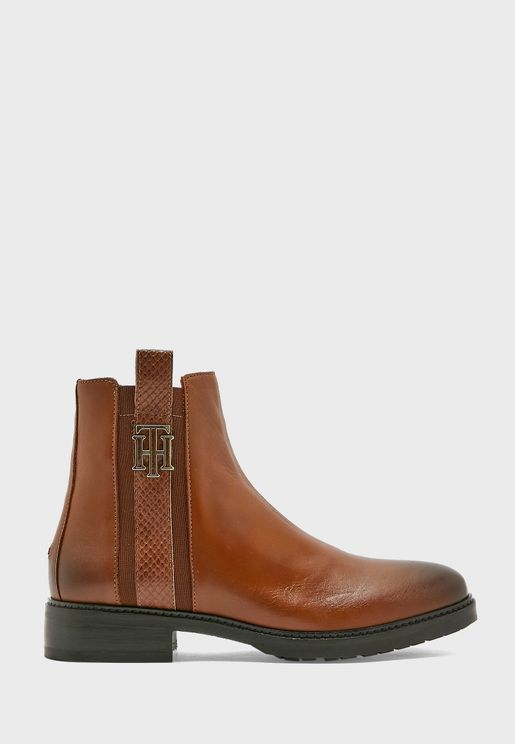 Interlock Leather Ankle Boot