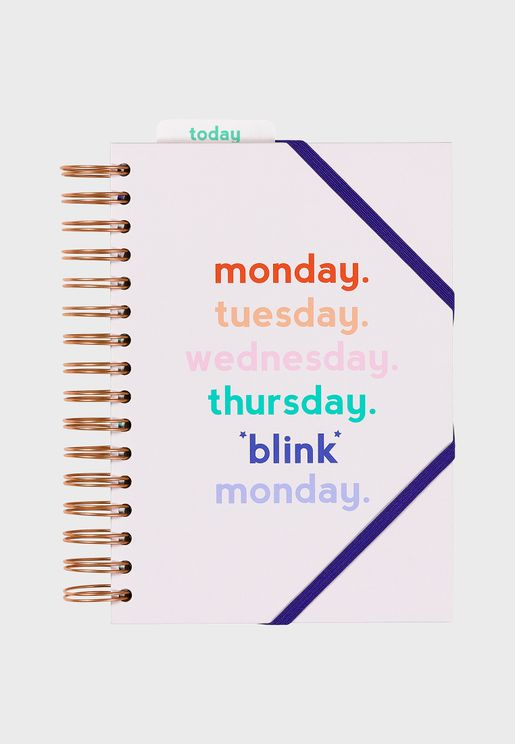 A5 Monday Blink Daily Planner