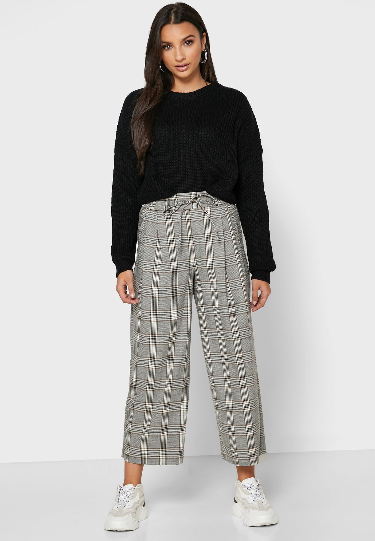 Checked Joggers