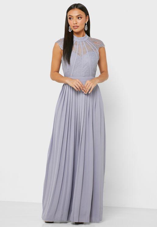 Lace Plisse Dress