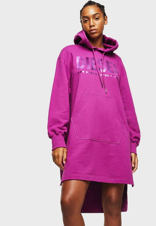 D-ILSE-T Sweatshirt dress with logo print