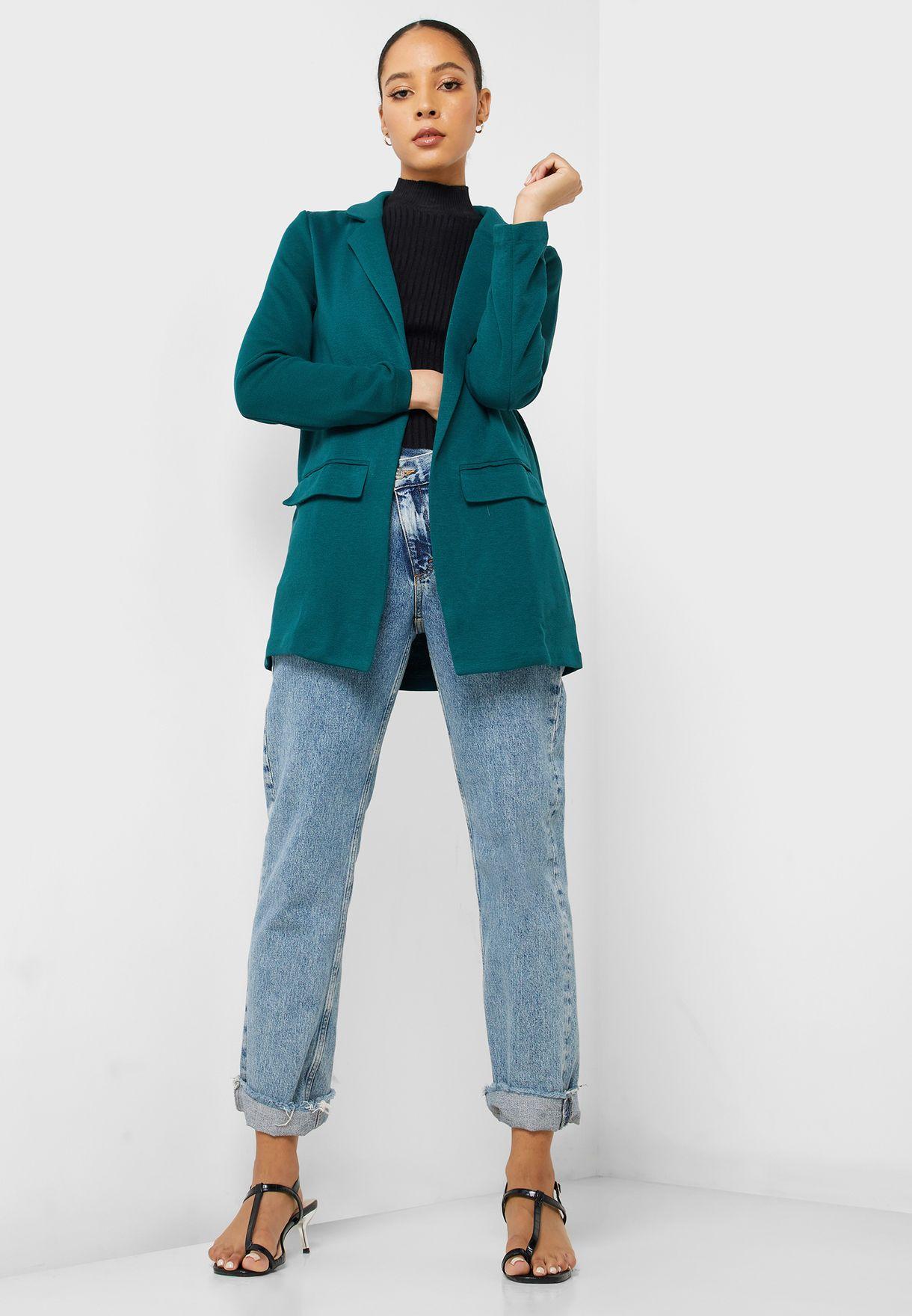 Longline Pocket Detail Blazer