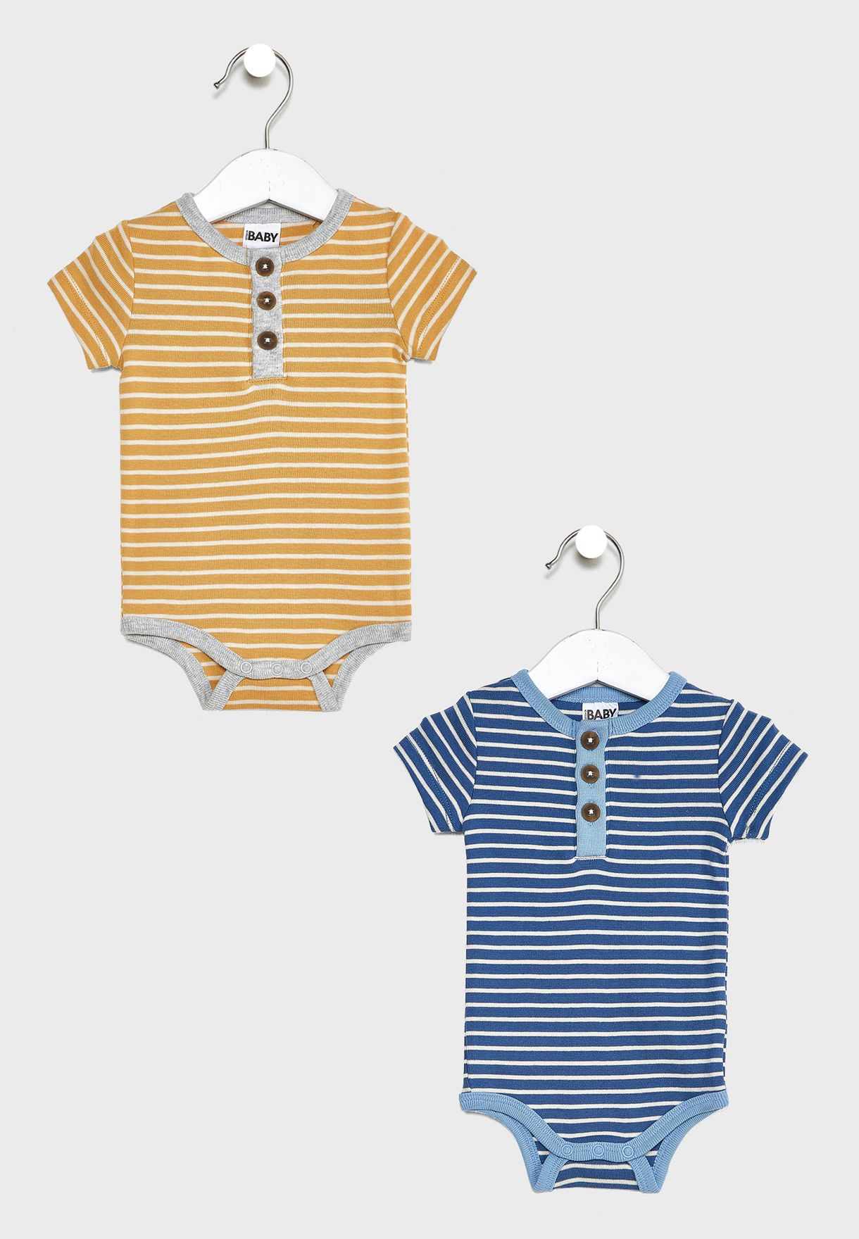 Infant 2 Pack Striped Bodysuit