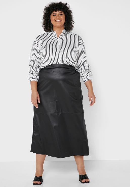 Unlined Hidden Pocket Skirt