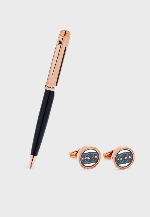 Pen + Cuff Links Gift Set
