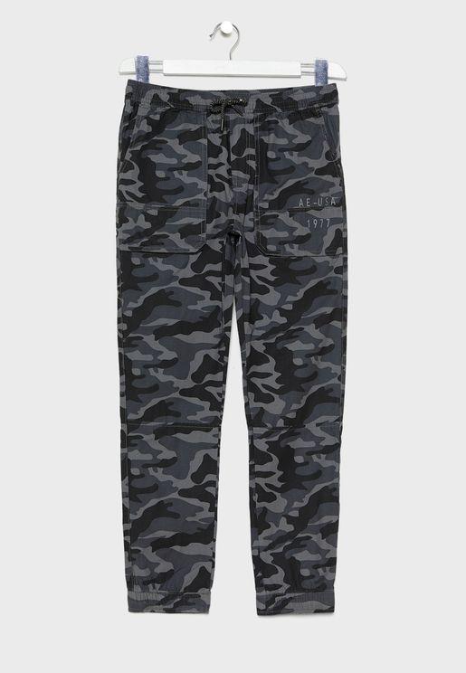Kids Camo Printed Jogg Jeans