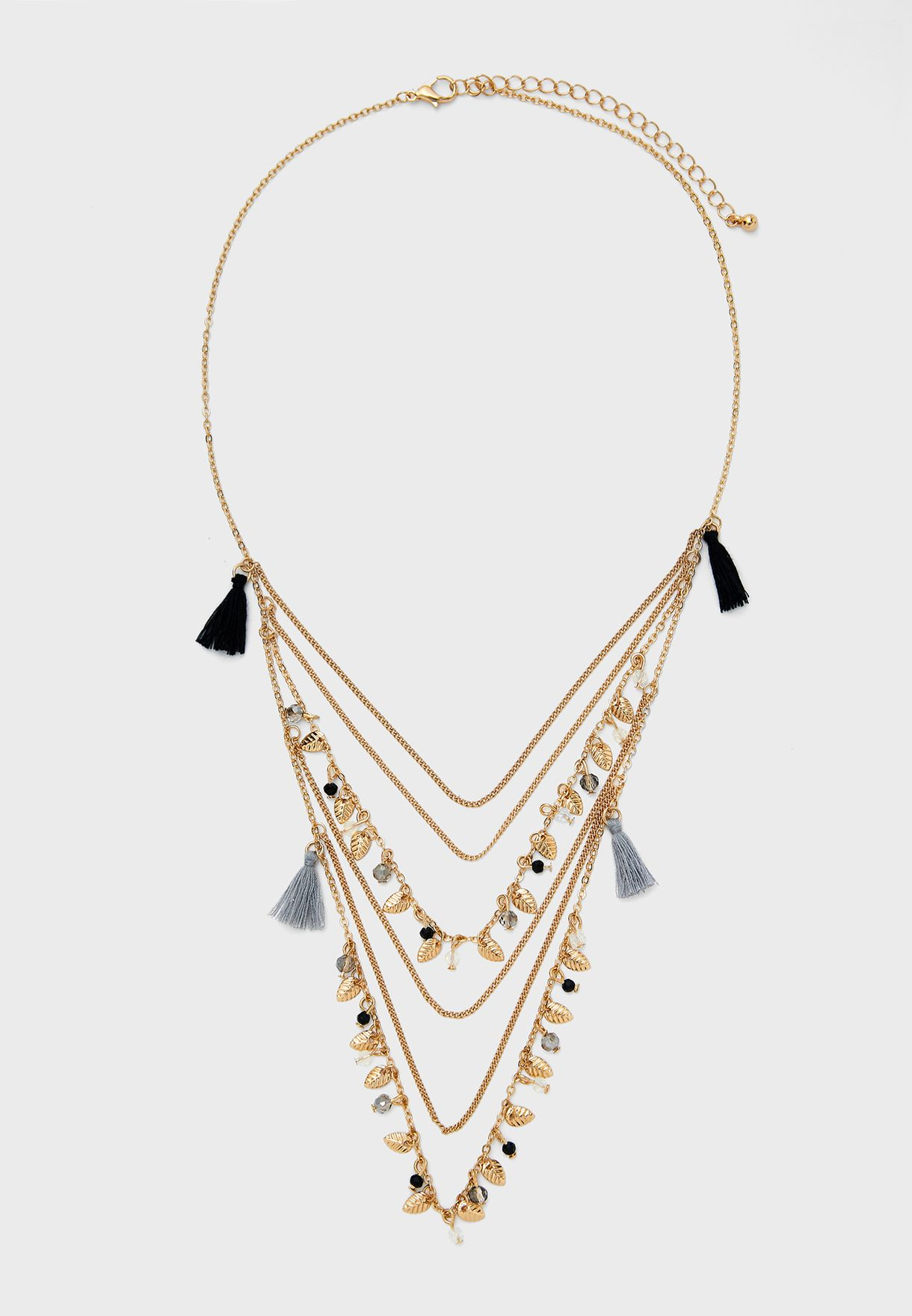 Tassel Detail Layered Necklace