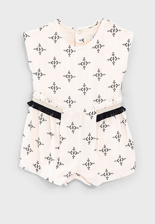 Kids Graphic Print Playsuit