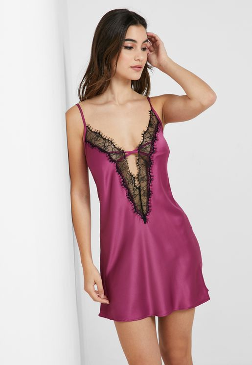 Lace Insert Nighties