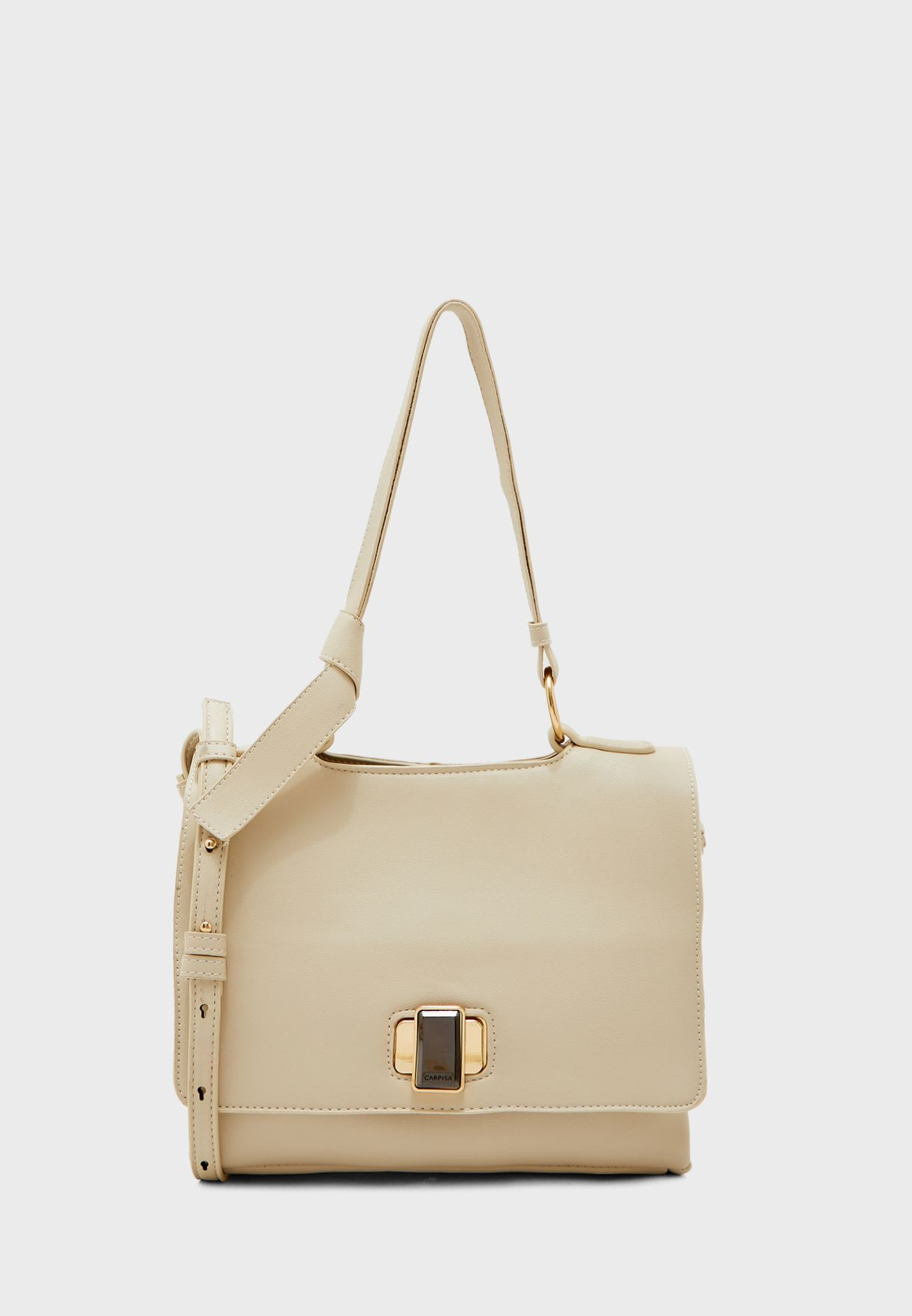 Push Lock Flap Detail Crossbody