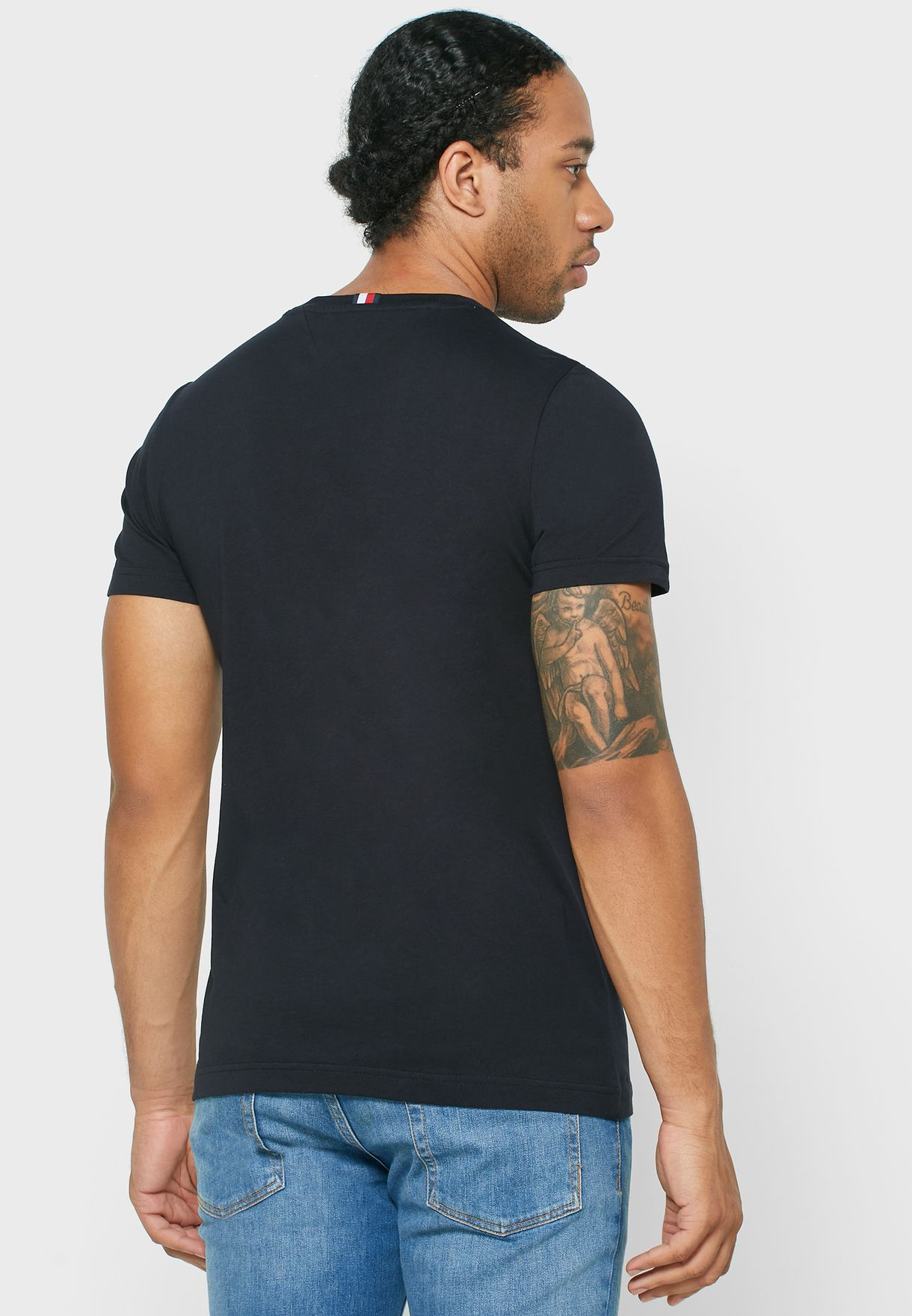 Chest Stripe Crew Neck T-Shirt