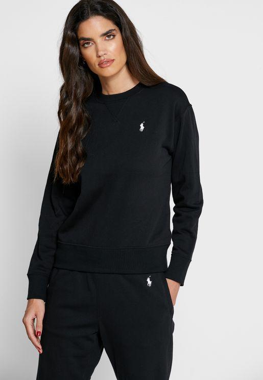 Logo Cuff Sleeve Sweatshirt