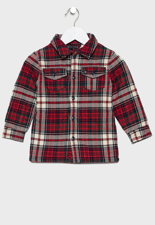 Teen Teddy Checked Shirt