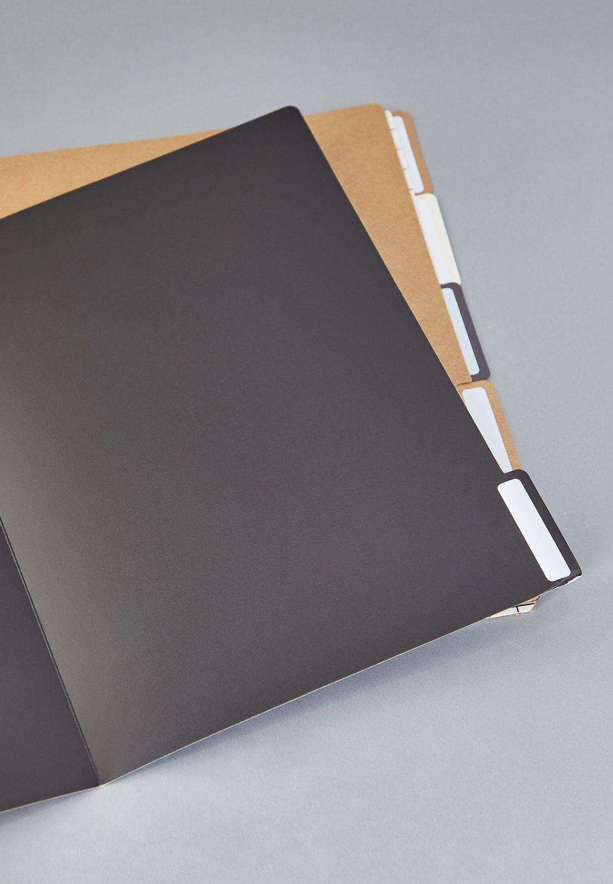 5 Pack Grid Manila Folder