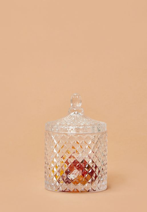 Diamond Bathroom Storage Jar
