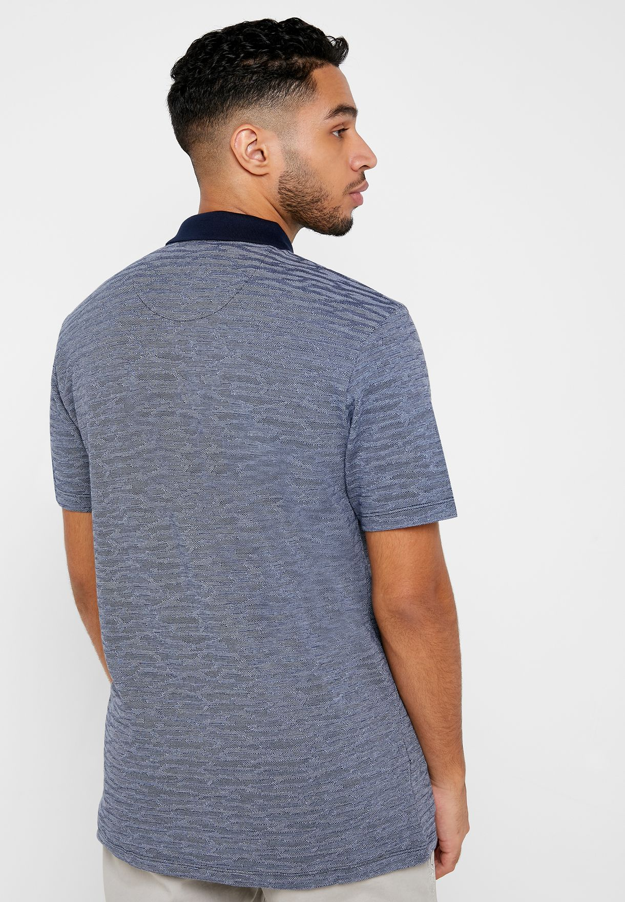 Reserved Textured Regular Fit Polo - Fashion