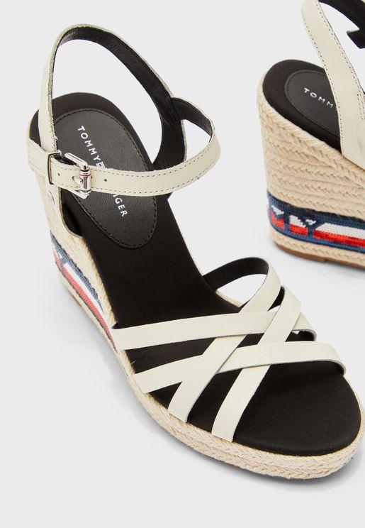 Tommy Sequins High Wedge Sandal - YBI