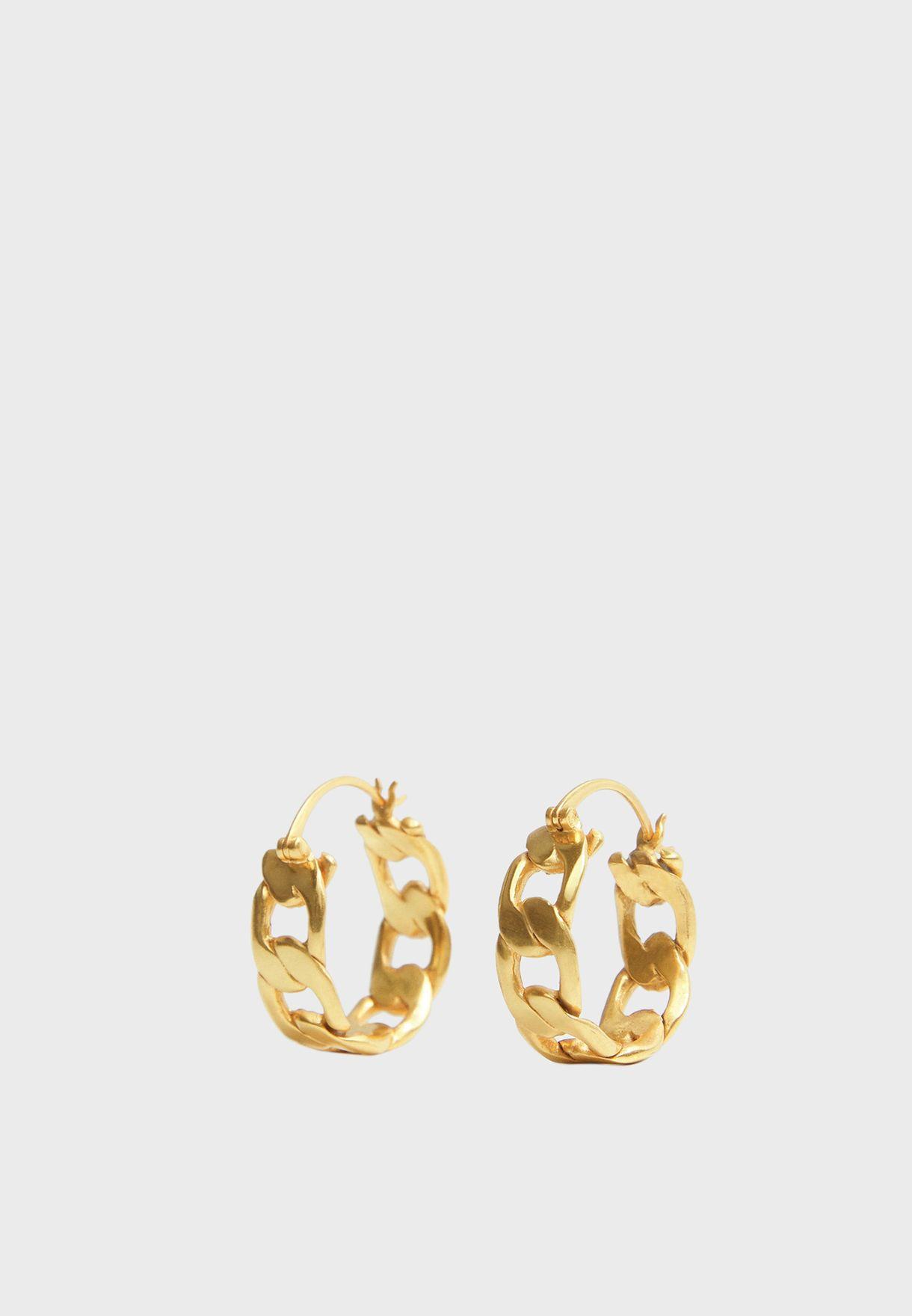 Leonardo Link Hoop Earrings