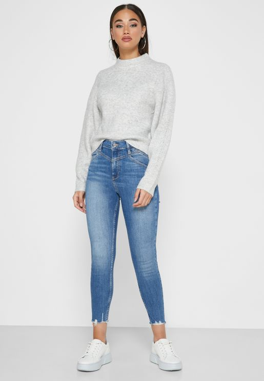 High Rise Skinny Michael Jeans