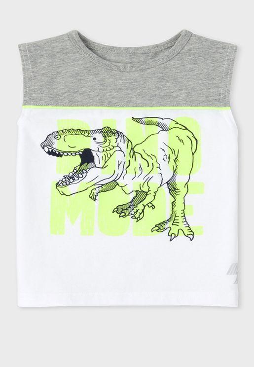 Baby Dinosaur Printed Vests