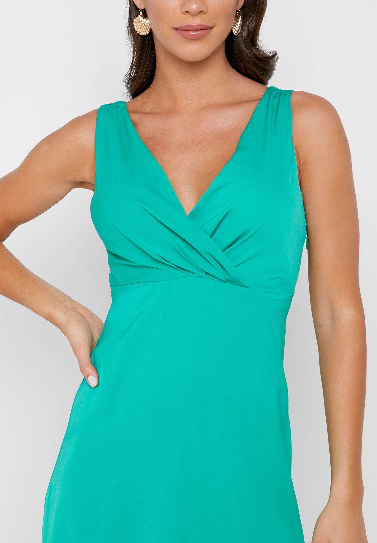 Side Split V-Neck Dress
