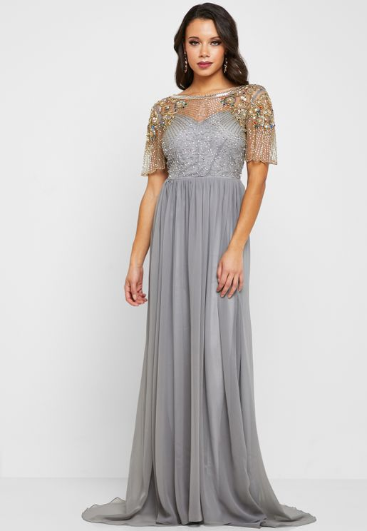 313b3ea732f Raina Embellished Maxi Dress
