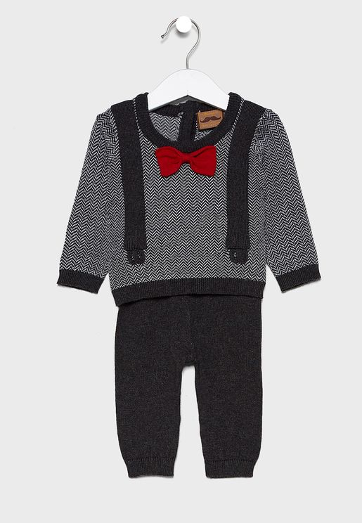 Infant Bow T-shirt + Sweatpants Set