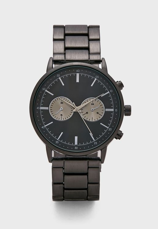 Gunmetal Bracelet Formal Analogue Watch