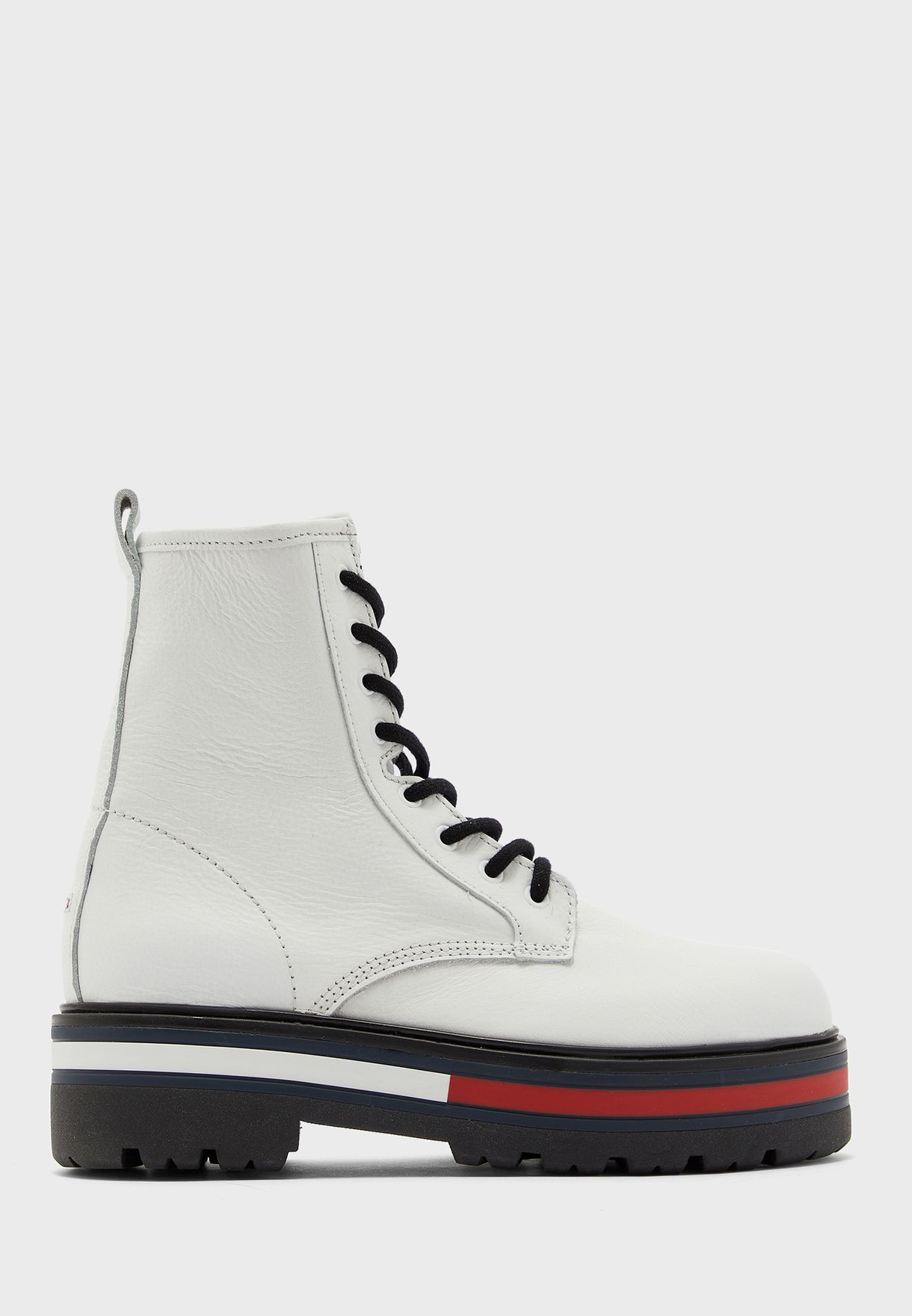 Flag Outsole Lace Up Ankle Boot