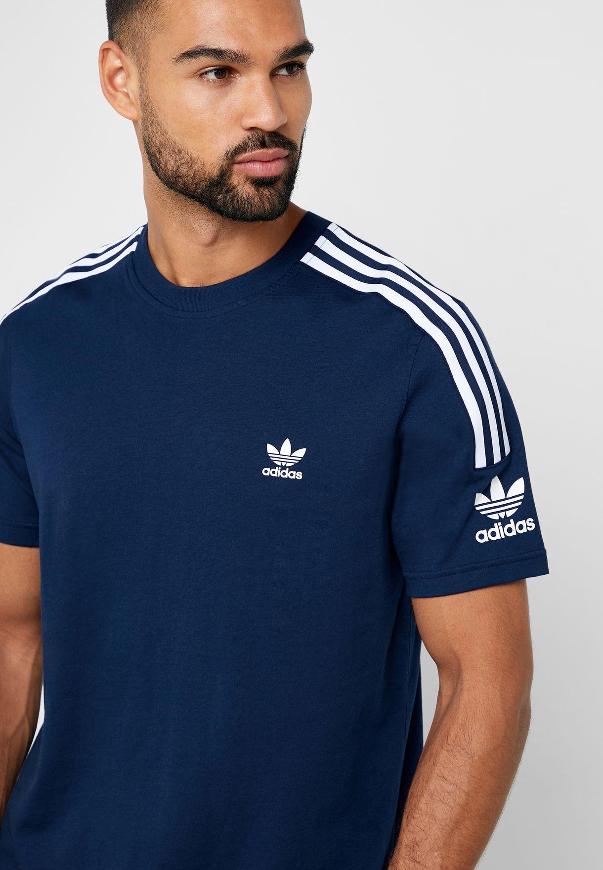 adidas Originals Tech Lock Up T Shirt   Collegiate Navy