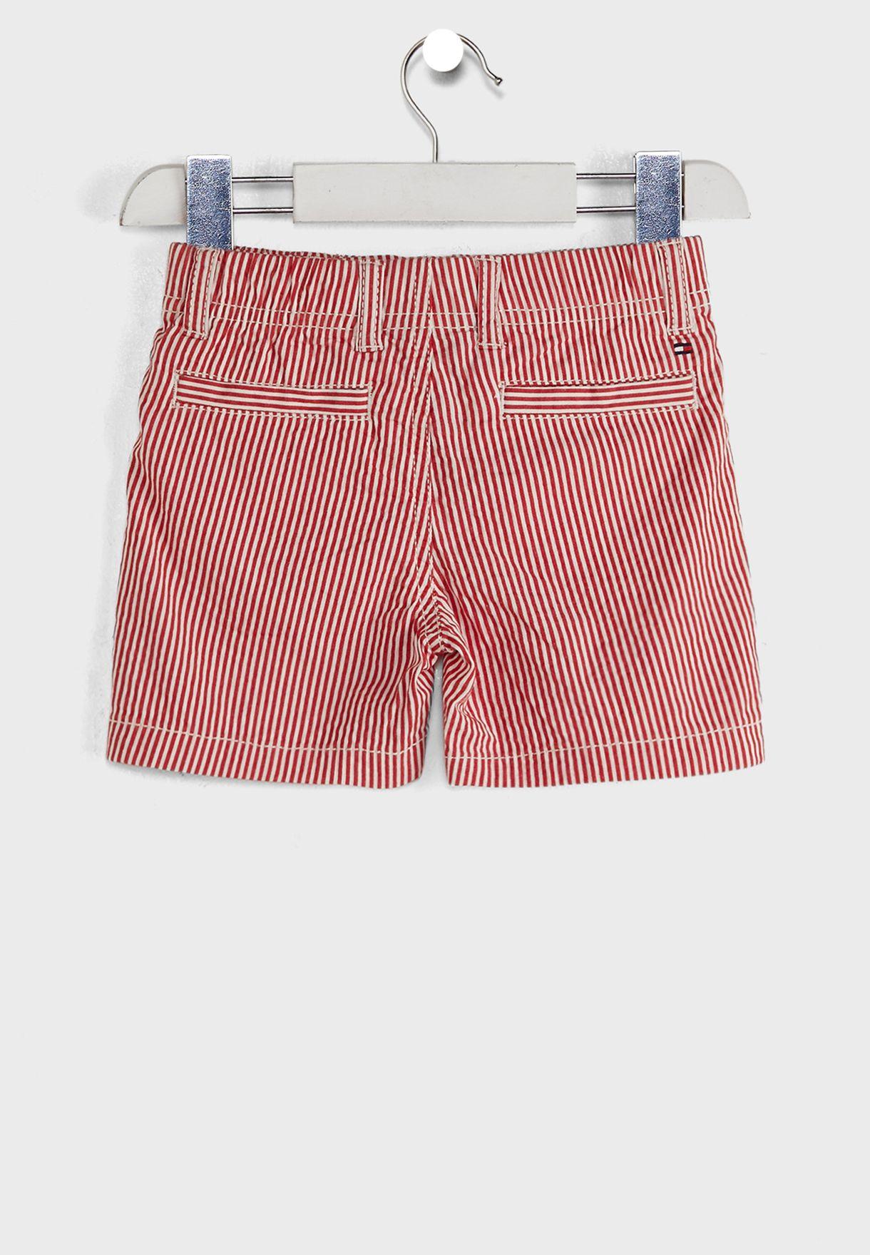 Kids Stripe Cotton Seersucker Shorts