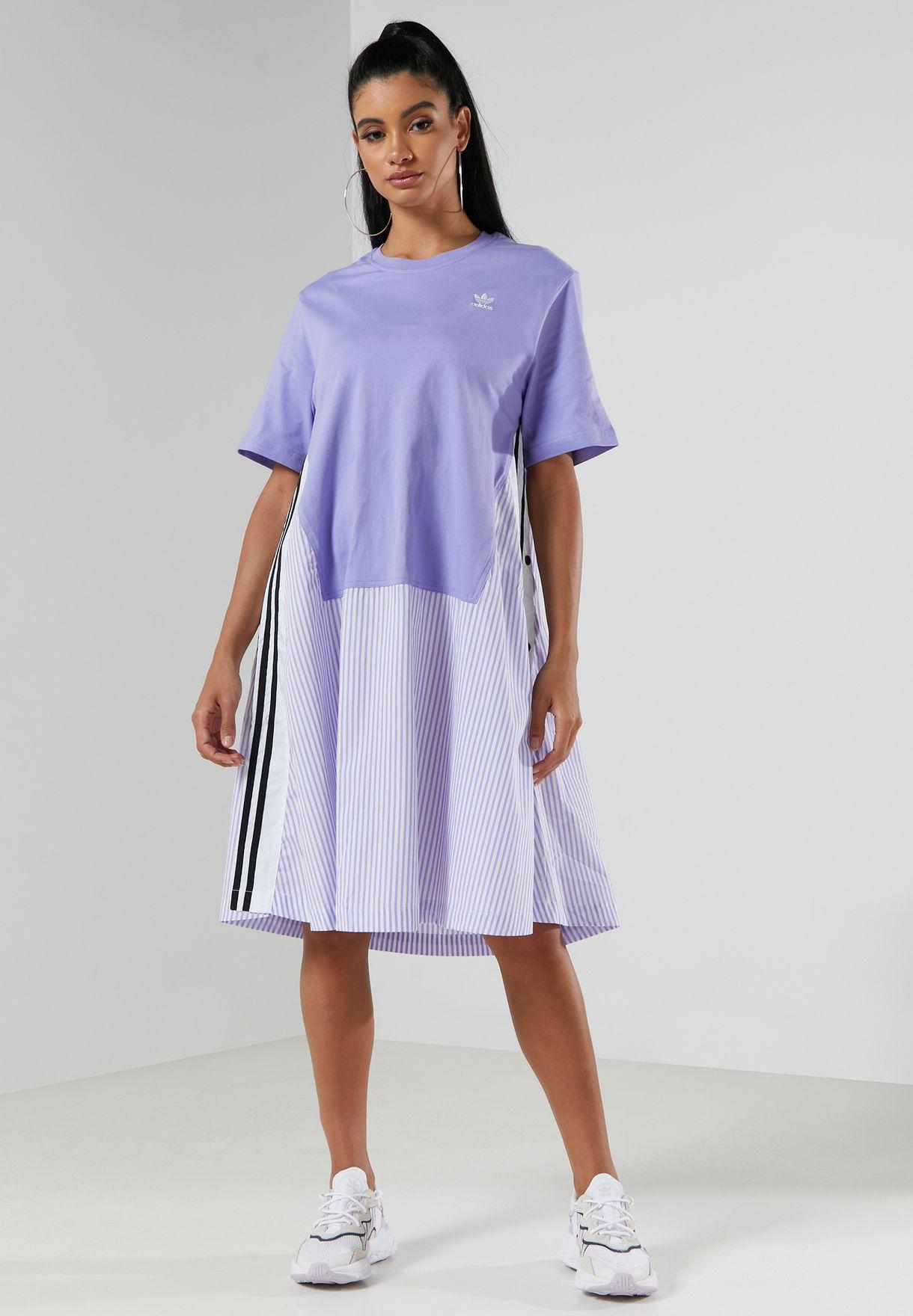فستان بنمط كتل الألوان
